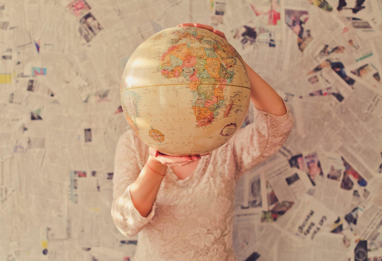 Globus vorm Kopf